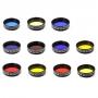 "Sada barevných filtrů Binorum 11 kusů 1.25"""