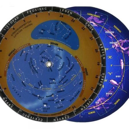 Otočná mapa hvězdné oblohy 12.5x12.5cm