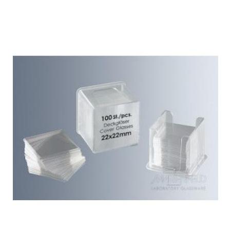 Mikrosklo krycí 18x18 mm, 100 ks