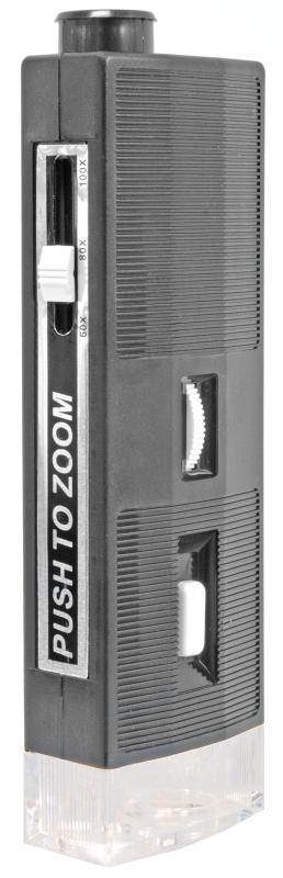 Přenosný mikroskop Bresser 60x–100x