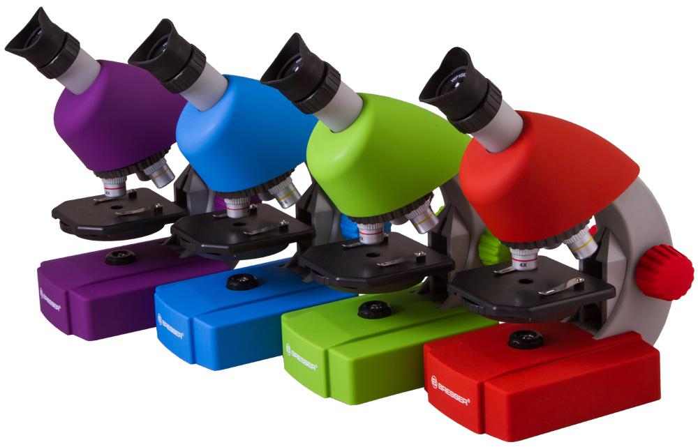 Mikroskop Bresser Junior 40x-640x, fialový