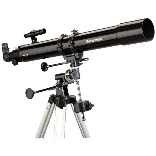 """Hvězdářský dalekohled Celestron AC 80/900 PowerSeeker 80 EQ + Okulár 1.25"""" 20mm + Okulár 1.25"""" 4mm + Hledáček 5x24 + 90° Převratná hranol + Barlow čočka 3x"""
