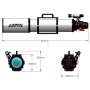 Apochromatický refraktor Agema Optics 120/1040 SD 120 F8.7 OTA