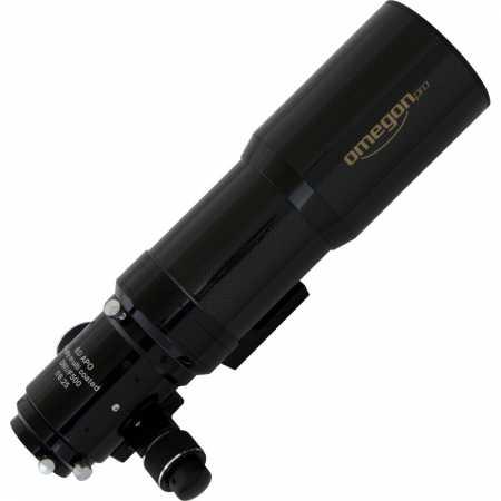 """Apochromatický refraktor Omegon Pro APO80/500 ED Carbon OTA + Field Flattener - <span class=""""red"""">Pouze tubus s příslušenstvím, bez montáže, bez stativu</span>"""