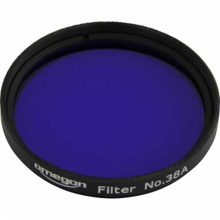 Filtr Omegon #38A 2″ colour, dark blue