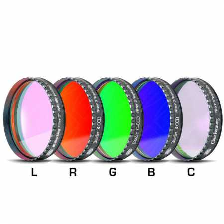 Filtr Baader Planetarium LRGBC-H-alpha 2″ 35nm, OIII and SII set