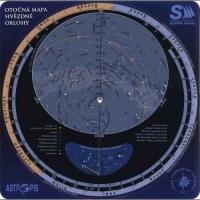 Otočná mapa hvězdné oblohy 20x20cm