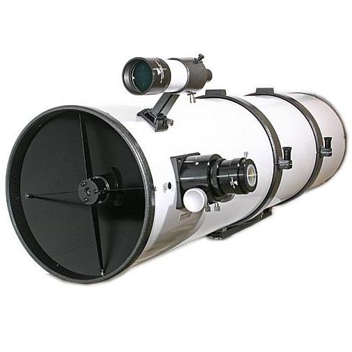 """Hvězdářský dalekohled GSO 254/1250 Newton 2"""" Crayford 1:10 OTA + upínací kruhy + hledáček 8x50 + redukce 2""""/1.25"""""""